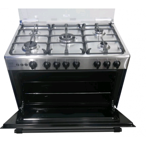 Nasco Gas Cooker 5 Burner with Oven and Grill [LME 65022]
