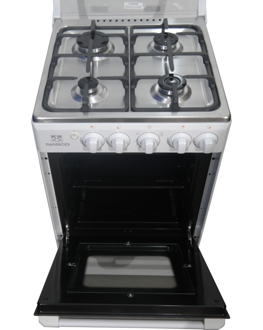 NASCO GAS COOKER WHITE 4 BURNER [ 20BME61057 ]